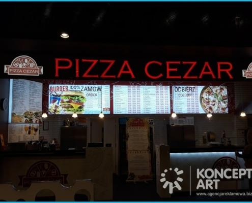 pizza cezar agencja reklamowa konceptart nowy sącz