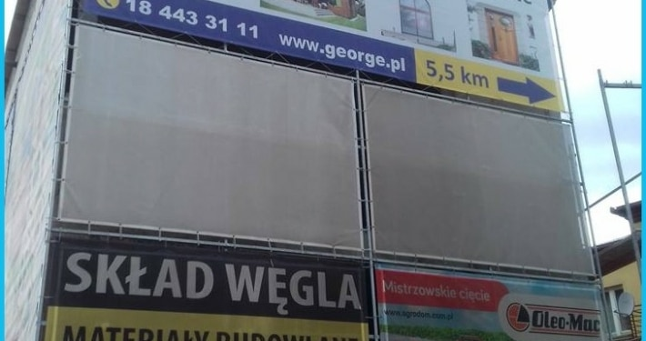 siatka george drukarnia wielkoformatowa nowy sącz bnery