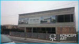 osłonięcie budynku drukarnia wielkoformatowa nowy sącz bnery