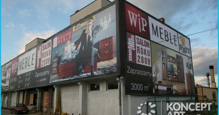 branding budynków drukarnia wielkoformatowa nowy sącz bnery