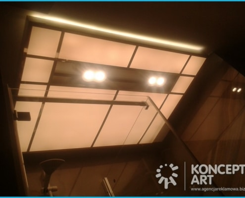 lampa pod prysznicem kasetony reklamowe nowy sącz