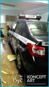 Oklejanie samochodów firm ochroniarskich Nowy Sącz