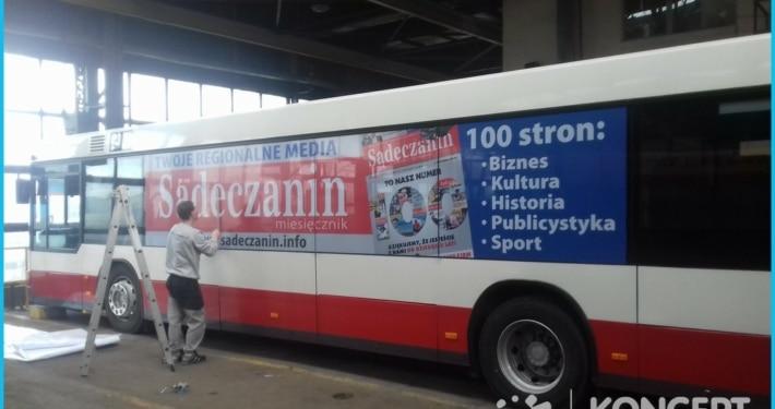 Oklejanie samochodów i autobusów komunikacji miejskiej Nowy Sącz