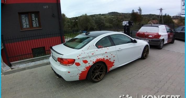 krwawe bmw Oklejanie samochodów Nowy Sącz
