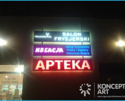 oznakowanie galerii handlowej reklama świetlna kasetony nowy sącz