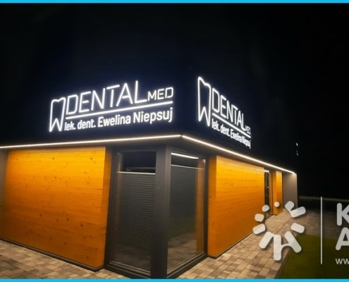 dental med reklama świetlna kasetony nowy sącz
